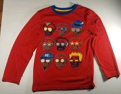 Circo Head (Circo Boys Red Graphic sleepwear top with Skull Heads Bones Sz)