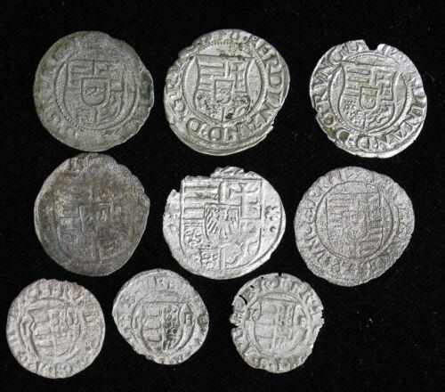 Lot of 9 Hungary Denar 1500-1600