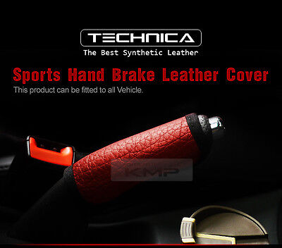 Sports Parking Hand Brake Boot Leather Cover Red For HYUNDAI 1996-2001 Elantra