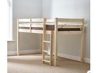 Solid Pine Cabin Bed & Mattress RRP £279