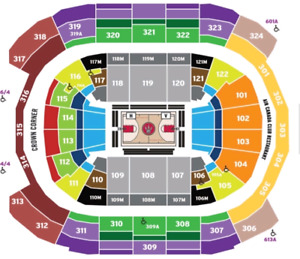 Raptors Tickets Section 114 Row D