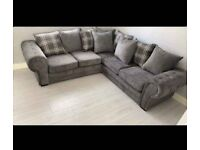 BRAND NEW LUXURY VERONA CHESTERFIELD DESIGN CORNER SOFA AVAILABLE IN GREY BOOK YOUR ORDERS