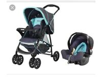 Graco travel system pushchair car seat