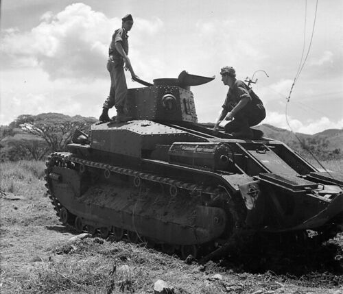 WW2 WWII Photo Japanese Type 89 Tank in Netherlands ?  World War Two / 3235