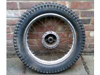 Montesa 123 original rear wheel