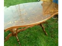 High Gloss Italian Dining Table with Chairs