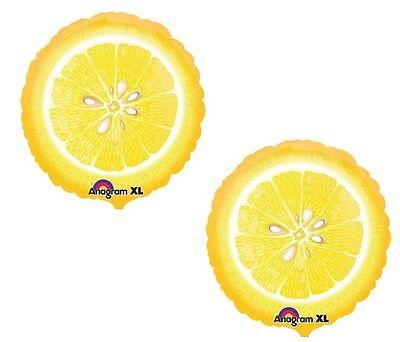 2 LEMON Slice LEMONADE Yellow Stand Summer Party 18
