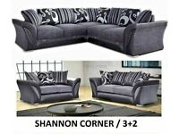 HUGE SALE - BRAND NEW SHANNON CORNER AND 3+2 SEATER SOFA AVAILABLE IN STOKE