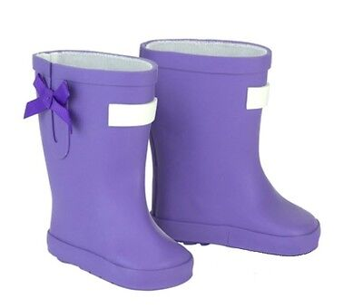 "Lavender Purple Wellies Rain Boots Shoes for 18"" American Girl Doll Clothes"
