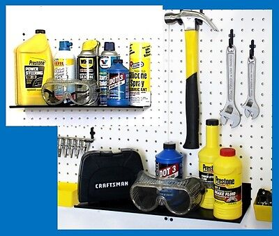 Wallpeg Metal Shelves Mount To Wall Or Pegboard Panel - Garage Storage 16 Wide