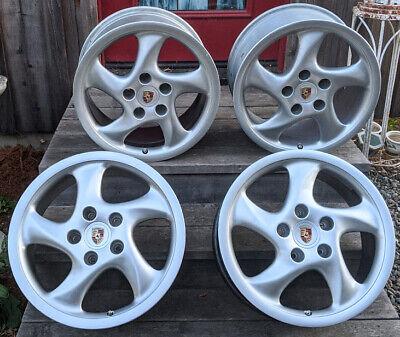 "OEM Porsche Hollow Spoke (Hohlspeiche), Turbo Twist, 18"" wheels  (set of 4)"