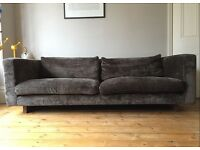 House Of Fraser Large 3 seater sofa, reupholstered in Designers Guild fabric