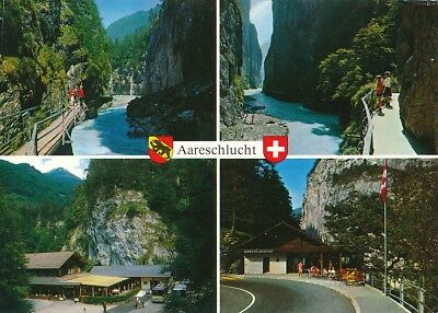 alte AK Aareschlucht bei Meiringen, Schweiz ungelaufen Ansichtskarte B035f