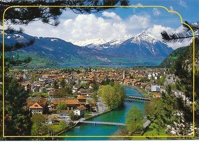 alte AK Unterseen-Interlaken, Bern, Schweiz ungelaufen Ansichtskarte B033g