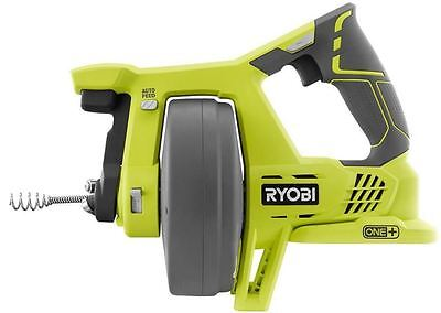 Cordless Drain Pipe Cleaner Auger Snake 25 Cable Auto-feed Lock Ryobi Tool Only