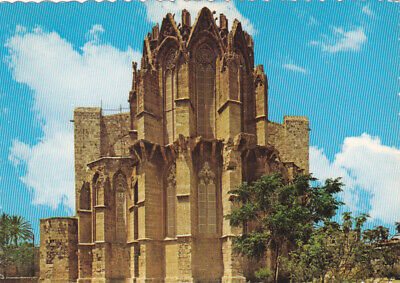 CYPRUS POSTCARD FAMAGUSTA SAINT NICHOLAS CATHEDRAL IN WALLED CITY NAGELE c1973