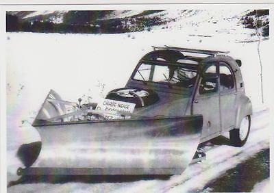 carte postale - citroen 2cv sahara 1962 - chasse neige