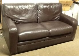 GREAT CONDITION 2 SEATER BROWN LEATHER SETTEE