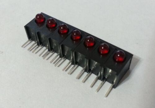 LED Array 7 Red 3mm Circuit Board Indicators Assy Dialight HLM-P170-0107F 24pcs
