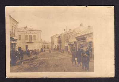 115649 AK Sokal Сокаль Ukraine Straßenbild Feldpost 1918