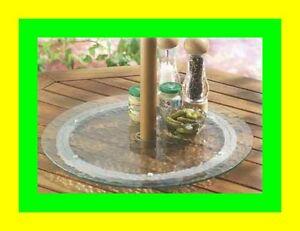 Plateau en verre tournant avec ouverture pour table de - Plateau tournant pour table ...