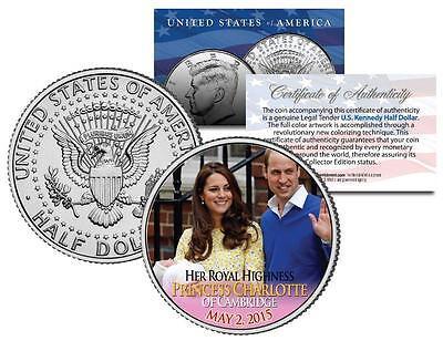 PRINCESS CHARLOTTE of Cambridge - Colorized JFK Half Dollar Coin William & Kate