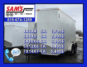 BEST PRICE ON ENCLOSED CARGO TRAILER WITH V-NOSE GATINEAU/OTTAWA