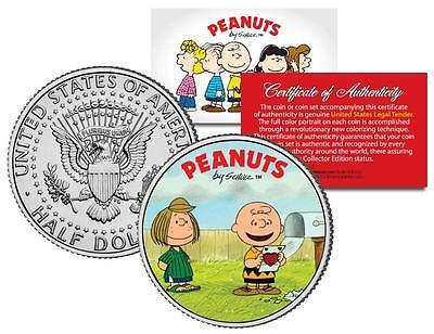 CHARLIE BROWN & PEPPERMINT PATTY * JFK Half Dollar US Coin (Patty Valentine)