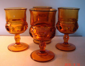 REDUCED! 10 Carnival Glass Amber Goblets West Island Greater Montréal image 1