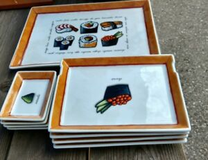 9-pc Sushi Plate Serving Set