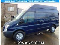 2012 62 FORD TRANSIT MWB-HIGH ROOF, TREND MODEL!, F.S.H., 6 SPEED, FACTORY BLUE