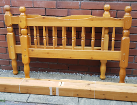 single-size pine wood bed frame. In used condition. (mattress available for extra £ in needed)