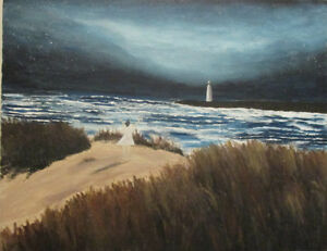 Painting of a Lighthouse by an Island Artist