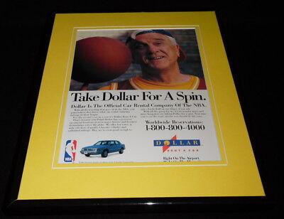 Leslie Nielsen 1993 Dollar Rent A Car   Nba 11X14 Framed Original Advertisement