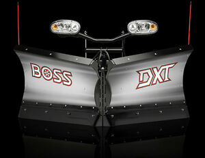 "Boss 8'2"" Stainless Steel DXT V Blade Plow"