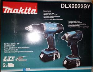 MAKITA DLX 2022 SY 18V cordless driver/impact drill kit NEW