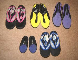 Aquashoes - sz 5, 5/6 (toddler), 12, 13, 1, 2, 3 (kids) - 2 new
