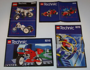 LEGO TECHNIC, LOT de 4 SETS no 8810 - 8808 - 8210 - 8215