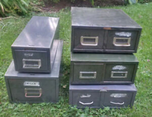1960s Vintage Card File Storage Drawer Units by Cole etc. Nice!