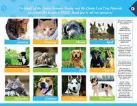 Humane Society Charity Calendars for sale - ongoing!