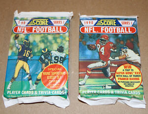 Score 1990 NFL football two pack Strathcona County Edmonton Area image 1