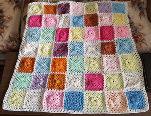 Flowers Knitted Baby Blanket