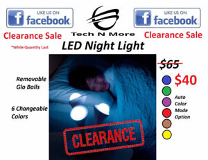 LED Night Light (Multicolored) (NEW CLEARANCE PRICE)