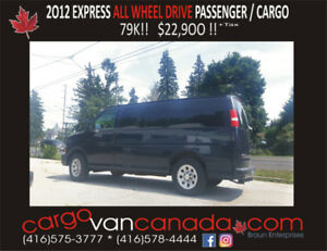 2012 EXPRESS *ALL WHEEL DRIVE* only 79K!!  fr. $22,900!!