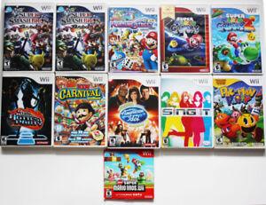 Wii Games - Super Smash Bros Brawl, Fortune Street, more sale