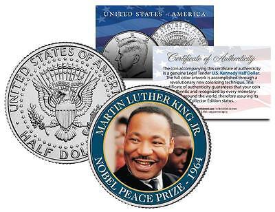 MARTIN LUTHER KING JR * NOBEL PEACE PRIZE * 1964 Winner JFK Half Dollar US Coin