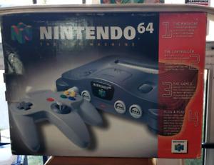 Original N64 Nintendo 64 Video Game Console System In Box