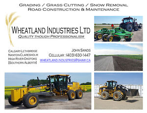 Comercial Grader, Loader, Mowing, Snow Removal, and Construction