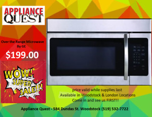 NEW!! GE Stainless Steel Over The Range Microwave