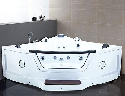 Helgoland Step Eckwhirlpool Luxus Radio Massage LED Badewanne